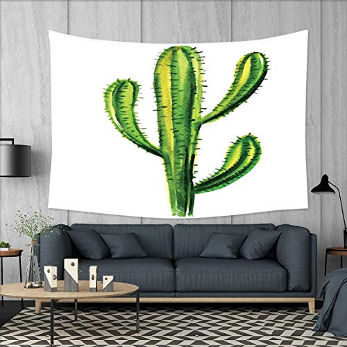 smallbeefly Cactus Tapestry Table Cover Bedspread Beach Towe