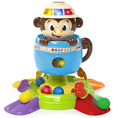 Bright Starts Baby Toy, Hide 'n Spin (Sound Ball Baby Toy)