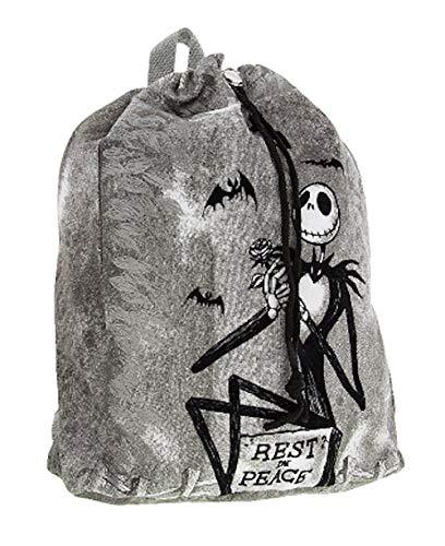 Disney Jack Skellington Rest in Peace Canvas Drawstring Backpack -