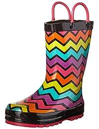 Western Chief Girls' Funny Stripe Rain Boot