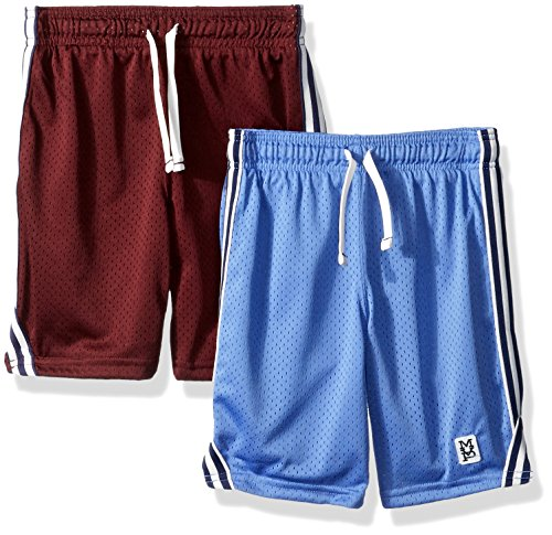 Carter's Boys' Toddler 2-Pack Mesh Shorts, Blue/Burgundy, 4T ()