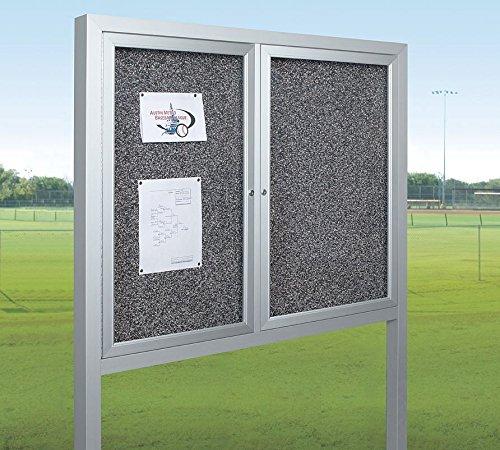Best-Rite / MooreCo - 94HAC-OP-RT - Bulletin Board, 48x36 In, Silver by Best-Rite