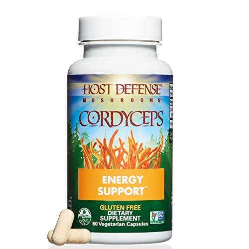 Host Defense - Cordyceps Mushroom Capsules, Naturally Helps Energy, Stamina, Endurance, and Oxygen Uptake to Support Athletic Activity, Non-GMO, Vegan, Organic, 60 Count ()