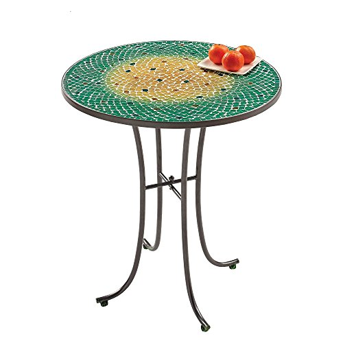 Ombre Mosaic Small All Weather Table in Green