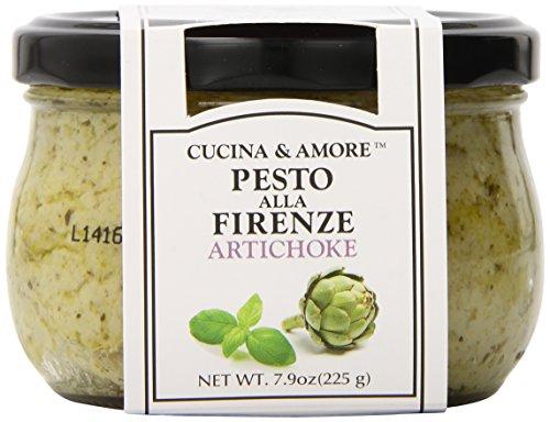 Cucina & Amore Pesto Sauce, Artichoke, 7.9 Ounce (Pack of ()