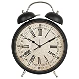 European clocks clock living room decoration ornament Bell alarm clock retro metal mute, 8-inch,N80L9. B