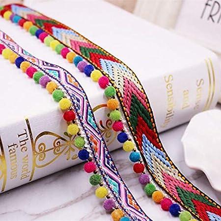 Tissu brod/é /à coudre pour v/êtements ethniques faits /à la main avec bordure en dentelle d/écorative 0,9 m 91cm length Style a 2