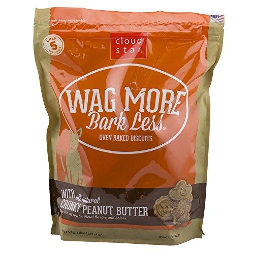 Cloud Star Wag More Bark Less Crunchy Peanut Butter Natural No Artificial, 3lb