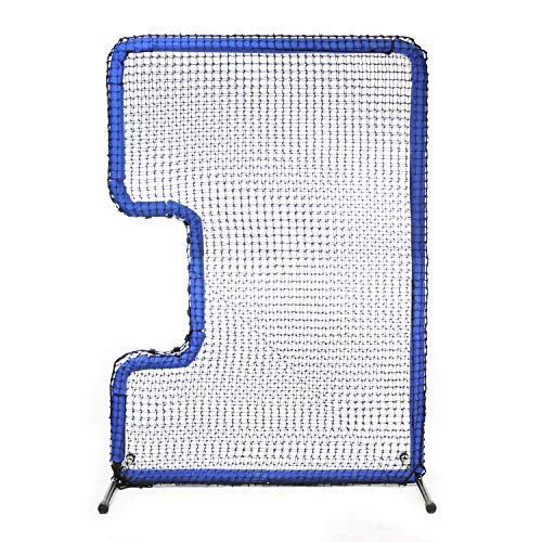 JUGS Protector Blue Series C-Shaped Softball Screen - Softball Pitcher & Pitching Machine Protection, 7'H x 5'W with a 33