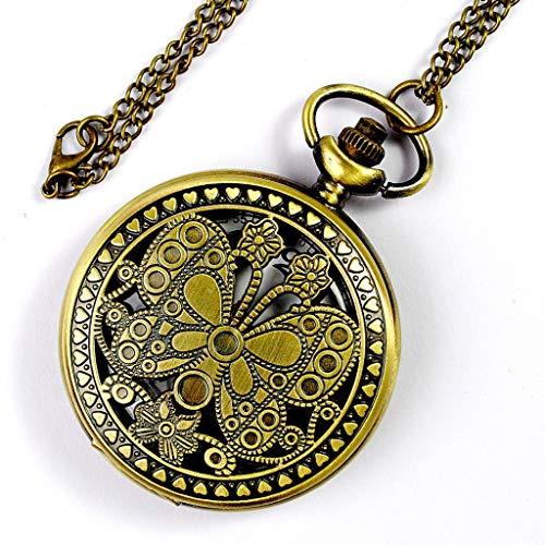 Antique Flower Pocket Watch - HHP-Life Steampunk Quartz Locket Watches Best Women Gift