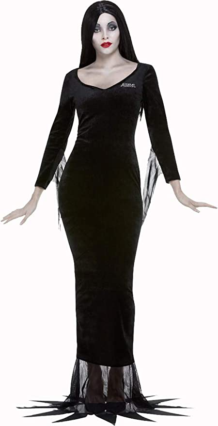 60s Costumes: Hippie, Go Go Dancer, Flower Child, Mod Style Ladies Halloween Fancy Dress Party Addams Family Morticia $90.99 AT vintagedancer.com