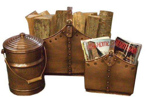 (Deeco Consumer Products 3-Piece Pure Copper Decorative Cauldron Basket Set)