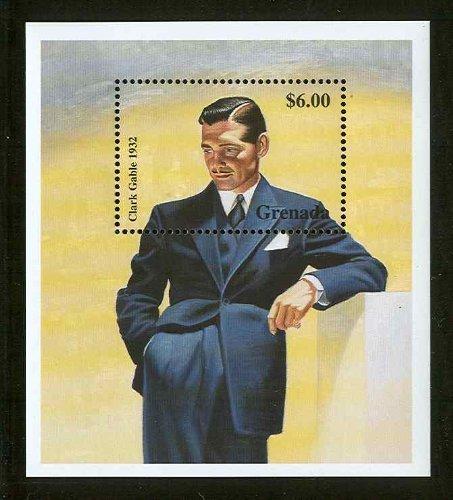 Clark Gable Hollywood Legend Souvenir Sheet Grenada Stamp 2885