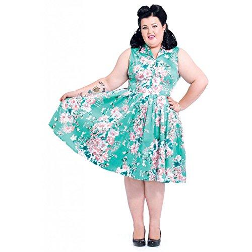 Womens-Voodoo-Vixen-Seafoam-Dream-Flare-Dress-Plus-Size-Green