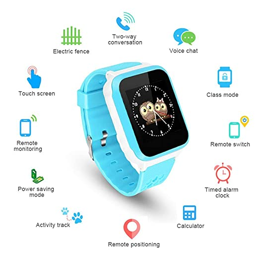 Roebii Kids GPS Smartwatch Phone, Smartwatch Tracker GPS ...