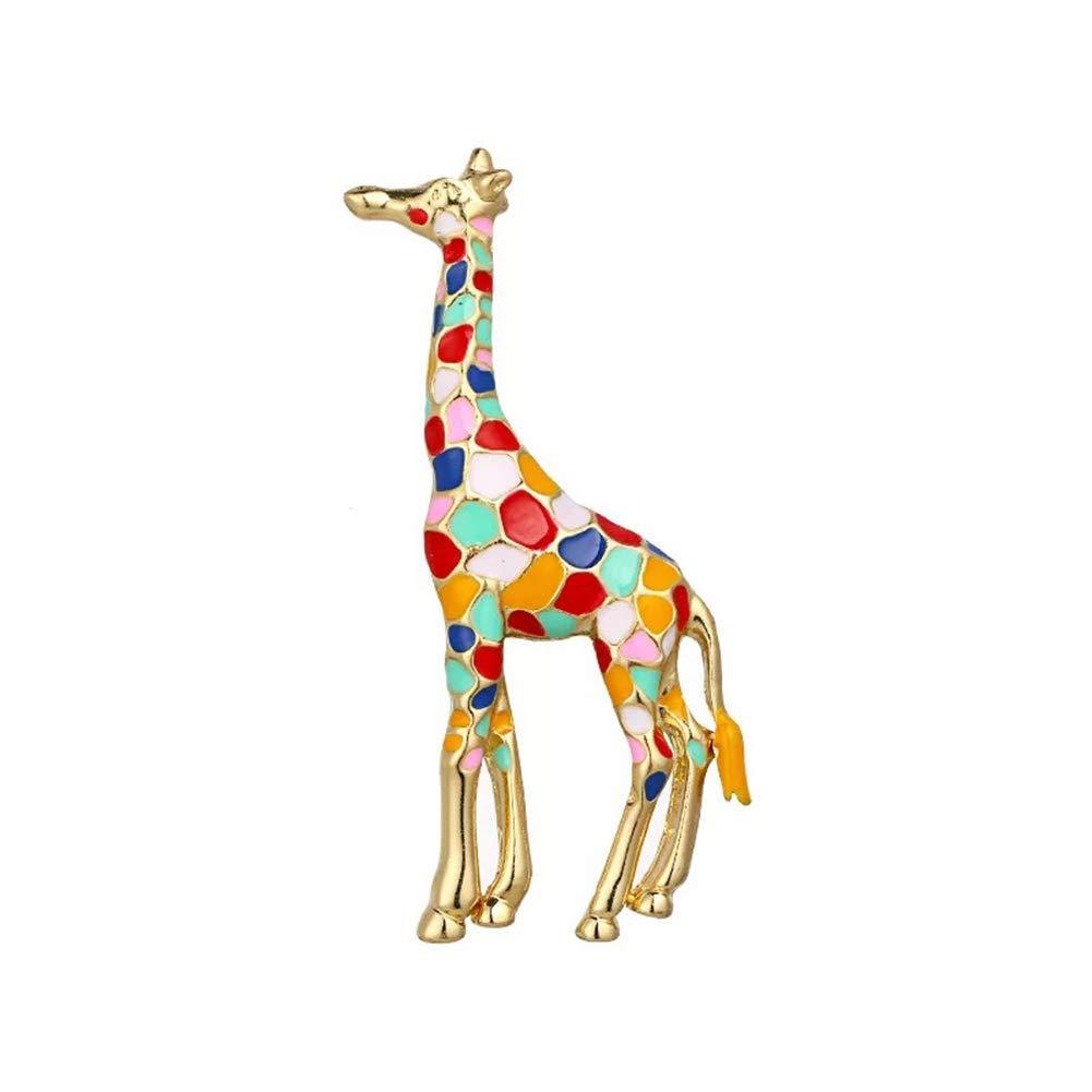 AILUOR Giraffe Brooch, Enamel Giraffe Brooch for Women Girls Cute Animal Spotted Brooch Pin Jewelry (Multicolor)