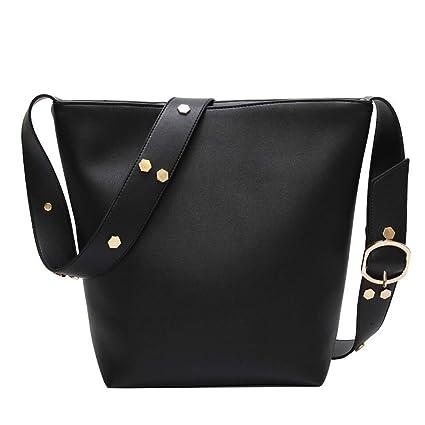 efe36884df53d Image Unavailable. Image not available for. Color: GMYANDJB Fashion Big  Bucket Handbags for Women Crossbody Bag Sequins Shoulder PU Leather Wide  Strap Belt