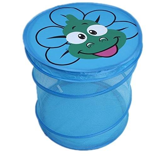 HENGSONG Faltbar Spielzeugkorb Wäschekorb Wäschesammler Wäschebox für Kinderzimmer Aufbewahrungsbox Spielzeugkiste 7 Farben (Blau Frosch)