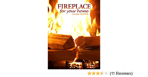 Amazon com: Fireplace 4K : Classic Crackling Fireplace from