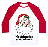Women Christmas Nothing For You Whore T-shirt Santa Claus Print Shirt TopFeatures: Nothing for you,whore letter,Santa Claus Print,Casual Patchwork T-shirtGuarantee:  We endeavors 100% customer satisfaction service and experience.*If you receive damag...