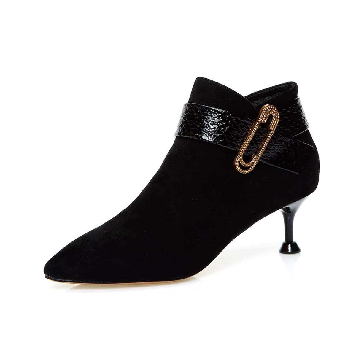 LBTSQ-Gürtelschnallen Wasser Bohrt Mode-Jacken Schuhe Mit Mit Mit Hohen Absätzen 6CmSpitze Dünn Schuhe Stiefel Und Nackte Knöchel Braut-Schuhe 047620
