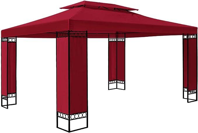 Deuba Carpa Elda Color Rojo 3x4 m cenador de Exterior Grande pabellón de jardín Repelente al Agua terraza: Amazon.es: Jardín