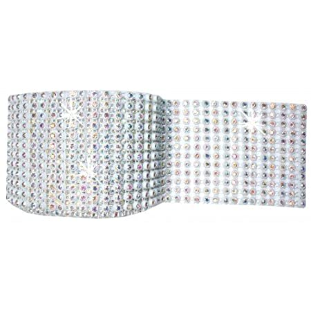 AB 12 tira blanco 1 m stitch-on diamante Gem carrete lazo cuerda ...