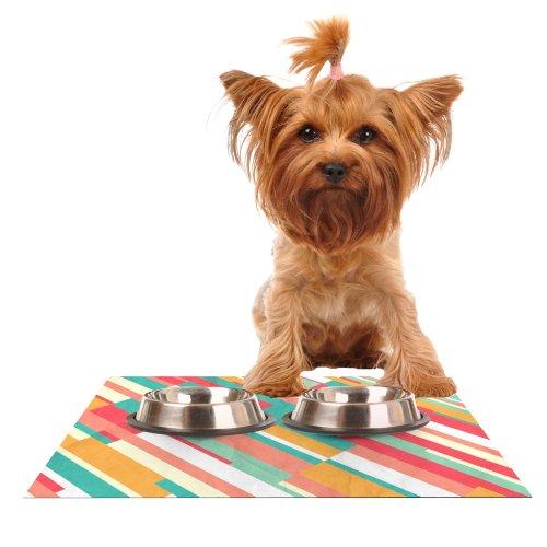 Kess InHouse Danny Ivan Droplines Feeding Mat for Pet Bowl, 18 by 13-Inch