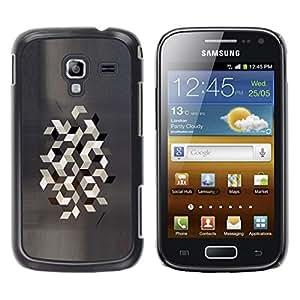 Be Good Phone Accessory // Dura Cáscara cubierta Protectora Caso Carcasa Funda de Protección para Samsung Galaxy Ace 2 I8160 Ace II X S7560M // Polygon Grey Gray Pattern Minimalist