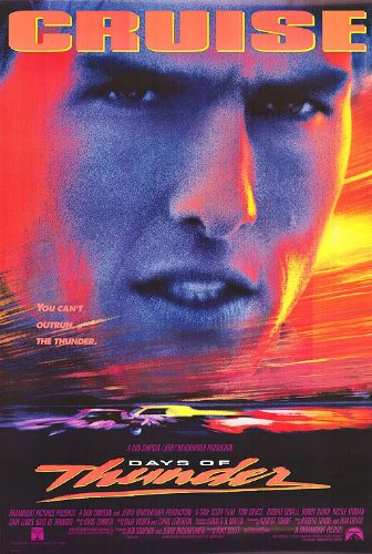 DAYS OF THUNDER MOVIE POSTER 1 Sided ORIGINAL ROLLED 27x40 T