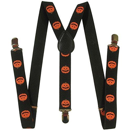 Kay's BTQ Adult Unisex Women Men Halloween Pumpkin Suspenders 184