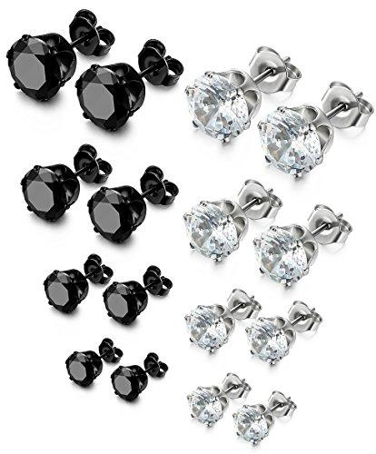 FIBO STEEL Stainless Earrings Zirconia