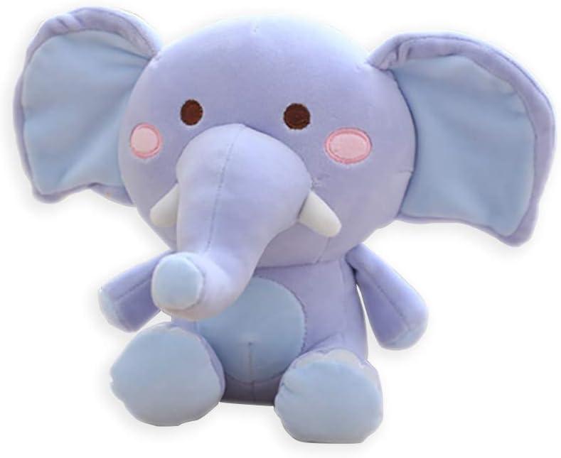 LApapaye 10inch Stuffed Elephant Plush Animal Toy Stuffed Animal (blue-25cm)