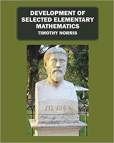 Development of Selected Elementary Mathematics