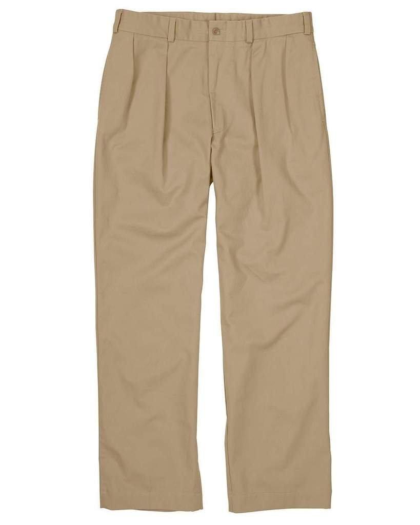 The Fine Swine Men's Bill's Khakis Original Twill M1 Pleated Pants 36 Khaki