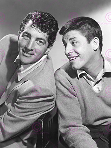 VINTAGE PHOTOGRAPHY COMEDIANS DEAN MARTIN JERRY LEWIS SMILE 18X24'' POSTER ART PRINT LV11319 (Jerry Lewis Pictures compare prices)