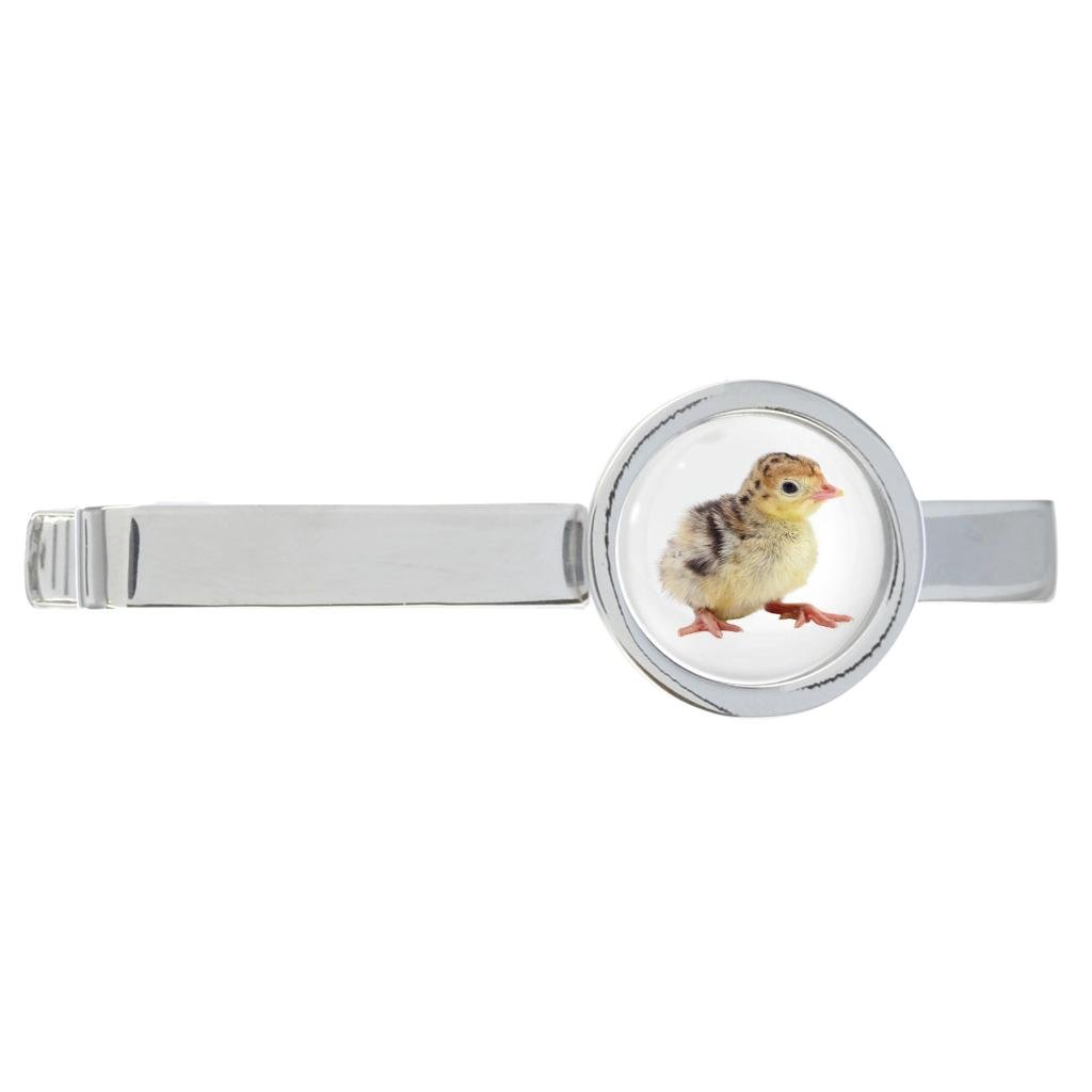 Turkey Chick Image Rhodium Plated Tie Clip in Gift Box
