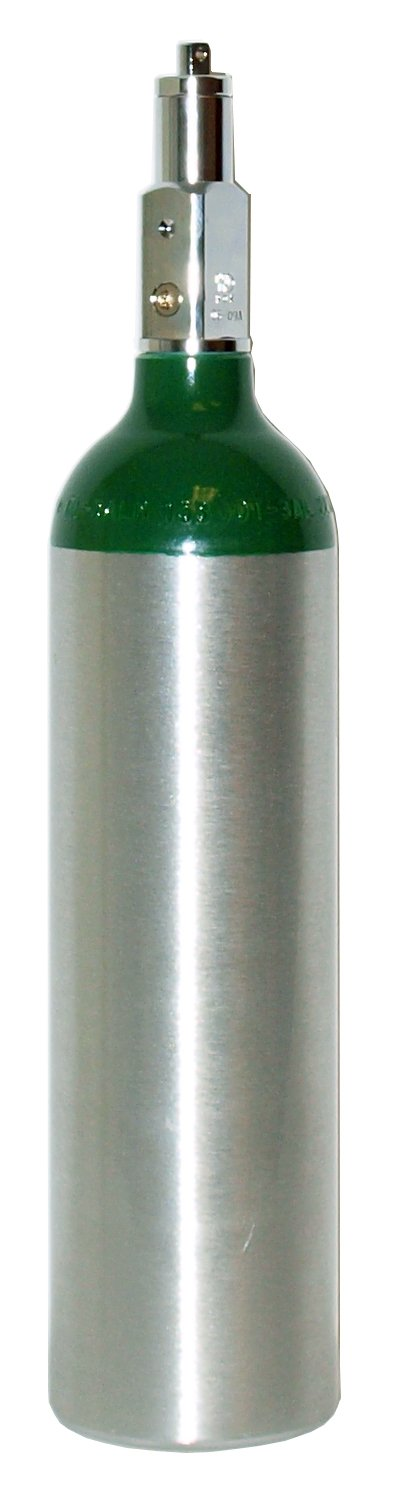 164 Liters POST VALVE A - SINGLE Size M6 Aluminum oxygen tank (Empty)