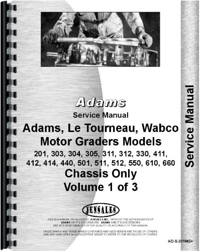Wabco 511 Diesel Motor Grader Chassis Only Service Manual