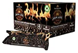 Pine Mountain Indoor & Pine Mountain Java Recycled Coffee Grounds Hour Time, 4 Logs (4152501471) Long Burning Firelog for Campfire, Fireplace, Fire Pit, Indoor & Outdoor Use, Brown, 4 Count