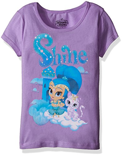 Nickelodeon Girls' Little Girls' Shimmer and Shine Graphic T-Shirt, Tropical Purple, 5