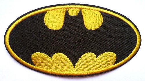 Batman Badge Fancy Dress supafast EMBROIDERED PATCH Badge Iron Sew On 9.5 cm (Fancy Dress Superheroes)