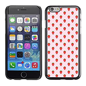 "For Apple iPhone 6 / 6S (4.7 inches!!!)/6S (4.7 INCH) Case , Patrón Strawberry Summer Wallpaper"" - Diseño Patrón Teléfono Caso Cubierta Case Bumper Duro Protección Case Cover Funda"