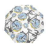 senya Bicycles With Donuts Wheels Umbrella Windproof Rain Automatic Open Close Folding Travel Anti-UV Sun Umbrellas