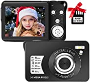 Digital Camera,30MP Compact Camera,2.7 inch Pocket Camera,Rechargeable Small Digital Camera for Kids,Students,