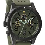 Nixon Green-Tone Dial Stainless Steel Chrono Rubber Quartz Men's Watch A278-1089