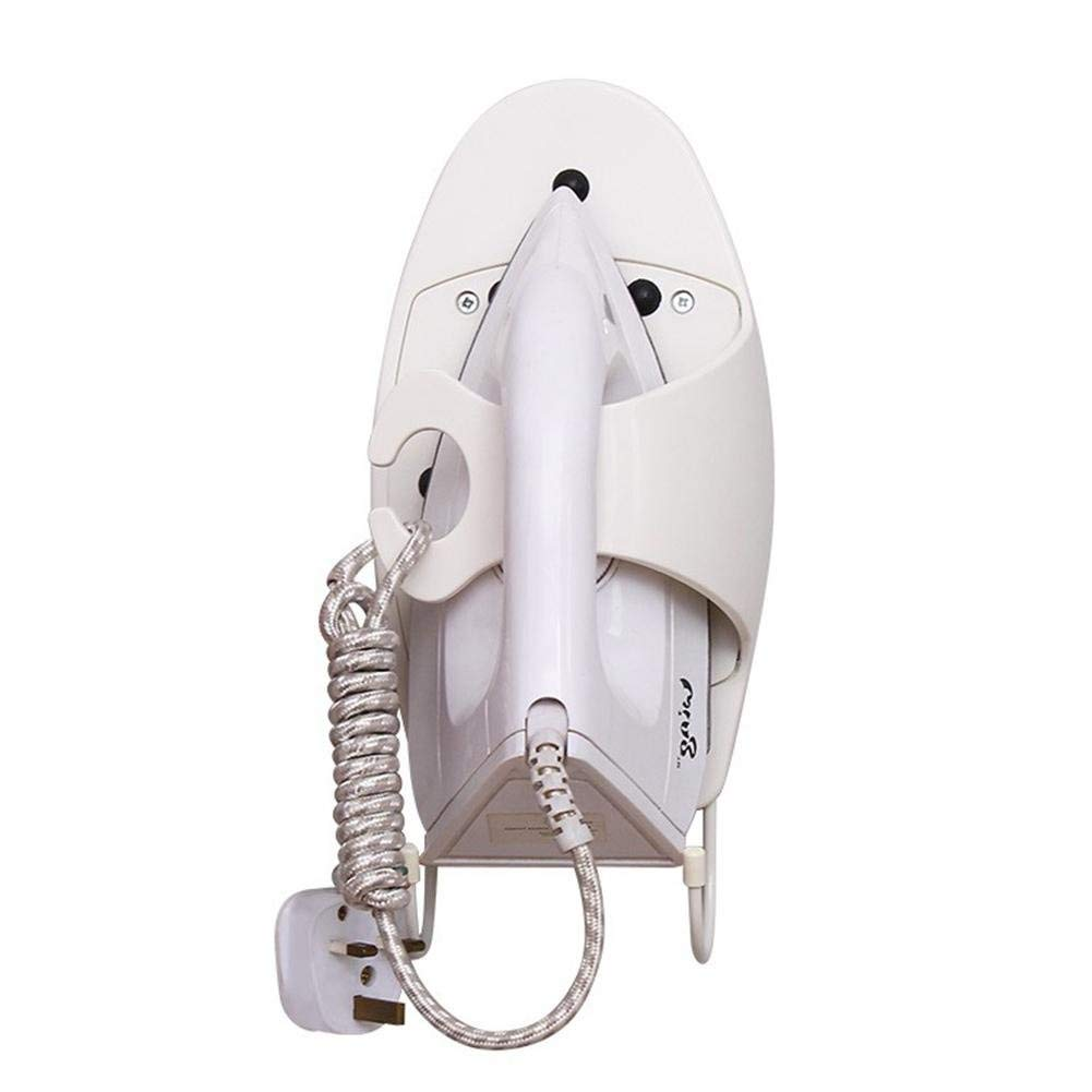 Ironing Board Holder With Steel Hooks Put It Straight Away after Use Keraiz Wall Mounted Iron Organizer Holder Maximum Load: 15kg White Iron Wall Holder