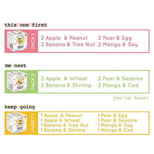 Early Allergen Introduction Baby Food: Inspired Start Pack 2, 3 oz. (Pack of 8 baby food pouches) - Non-GMO, include wheat, sesame, shrimp and cod in baby's diet by Inspired Start (Image #9)