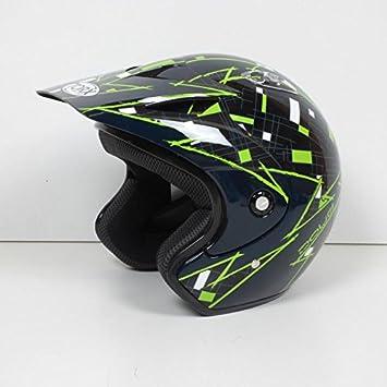 Casco de moto de trial quad, Torx Doug, colores negro/verde