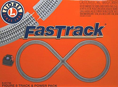 Lionel LNL6-81735 FasTrack Figure 8 Track & Power Pack - Lionel Fastrack Figure